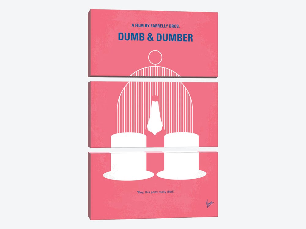 Dumb & Dumber Minimal Movie Poster by Chungkong 3-piece Canvas Wall Art