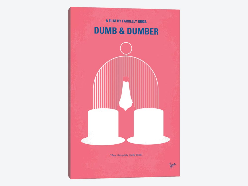 Dumb & Dumber Minimal Movie Poster by Chungkong 1-piece Canvas Wall Art