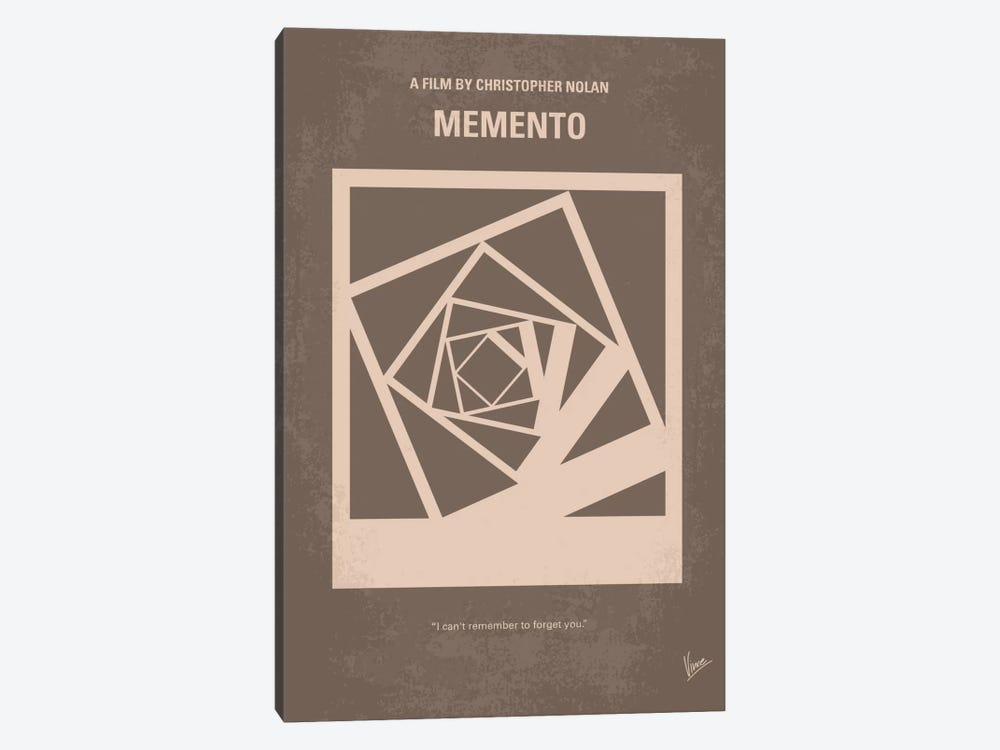 Memento Minimal Movie Poster 1-piece Canvas Art