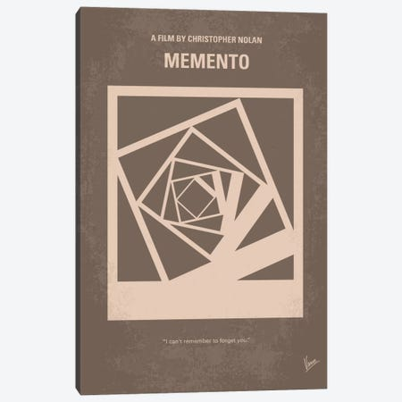 Memento Minimal Movie Poster Canvas Print #CKG248} by Chungkong Art Print