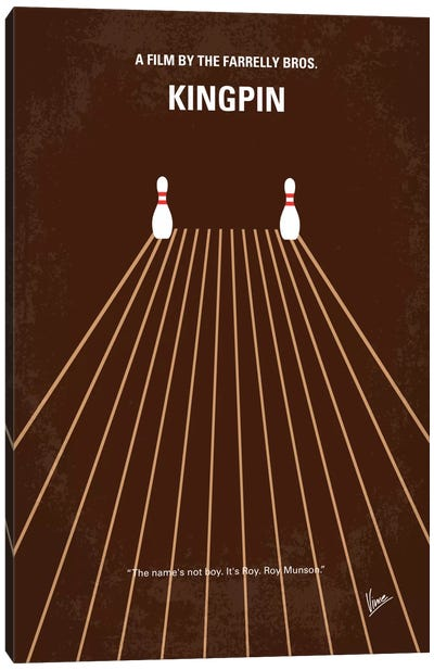 Kingpin Minimal Movie Poster Canvas Art Print