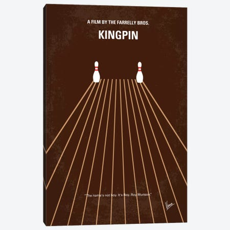 Kingpin Minimal Movie Poster Canvas Print #CKG249} by Chungkong Art Print