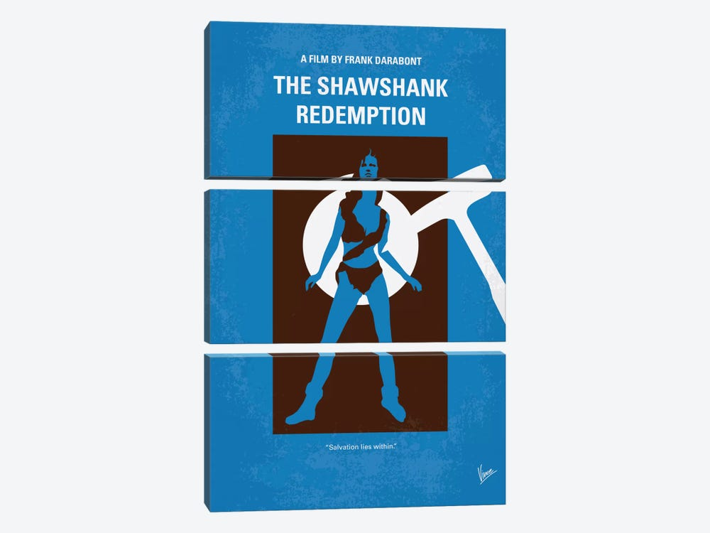 The Shawshank Redemption Minimal Movie Poster by Chungkong 3-piece Art Print