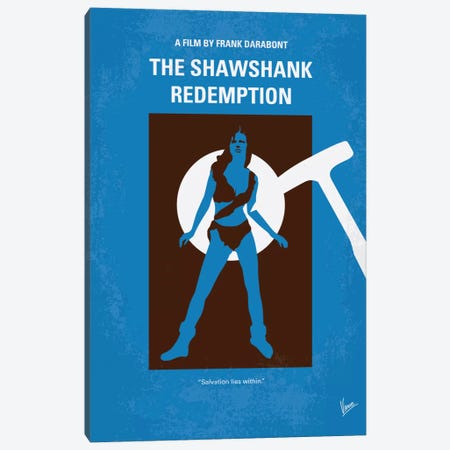 The Shawshank Redemption Minimal Movie Poster Canvas Print #CKG250} by Chungkong Canvas Wall Art