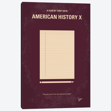 American History X Minimal Movie Poster Canvas Print #CKG251} by Chungkong Canvas Art