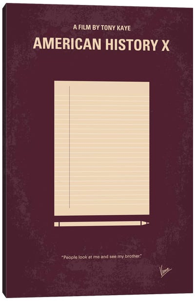 American History X Minimal Movie Poster Canvas Art Print