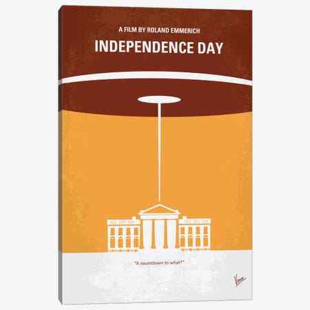 Independence Day Minimal Movie Poster Canvas Print #CKG253} by Chungkong Canvas Art