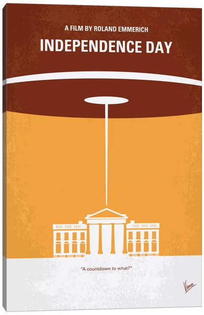 Independence Day Minimal Movie Poster Canvas Art Print