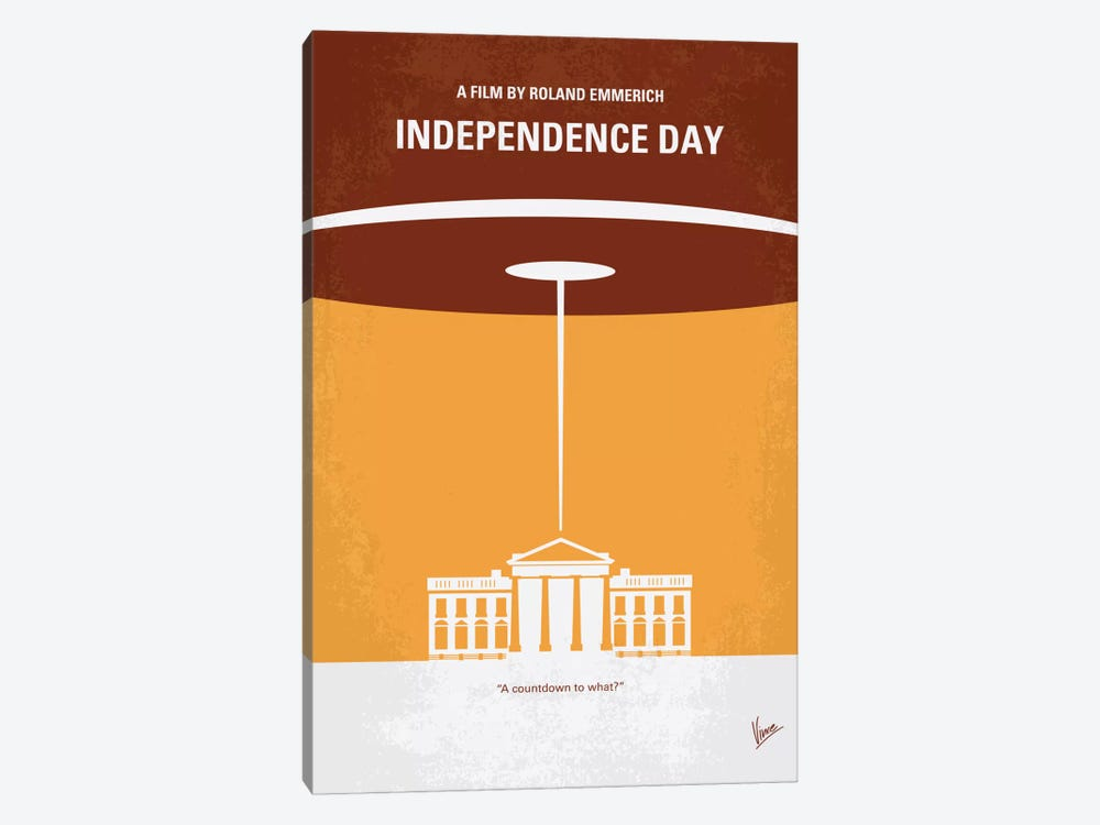 Independence Day Minimal Movie Poster by Chungkong 1-piece Canvas Artwork