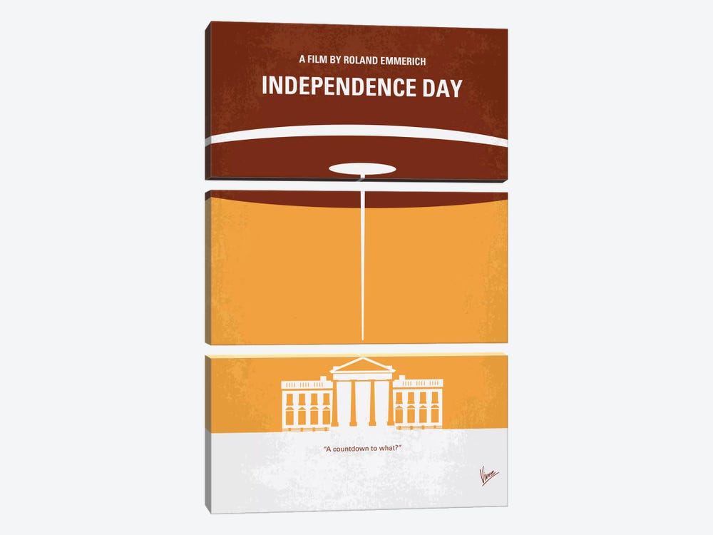 Independence Day Minimal Movie Poster by Chungkong 3-piece Canvas Wall Art
