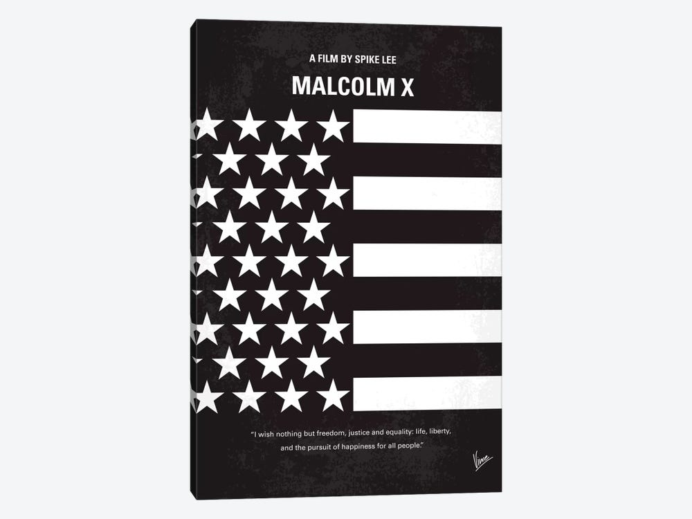 Malcolm X Minimal Movie Poster by Chungkong 1-piece Canvas Print