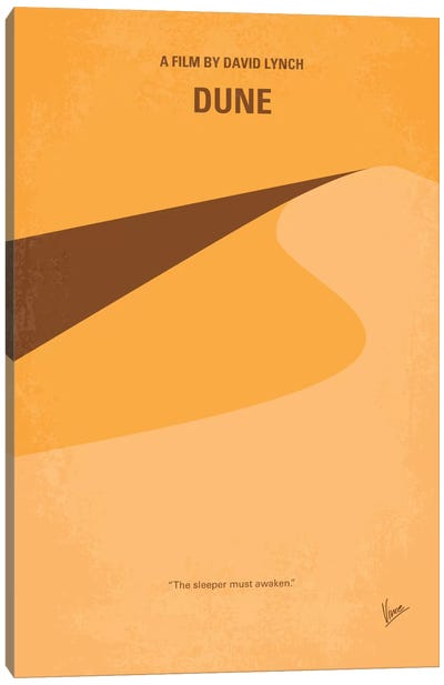 Dune Minimal Movie Poster Canvas Art Print
