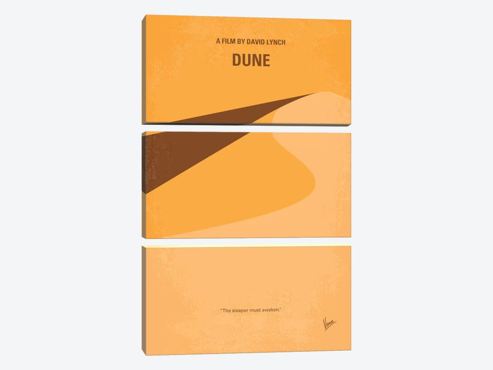 Dune Minimal Movie Poster by Chungkong 3-piece Canvas Wall Art