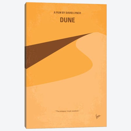 Dune Minimal Movie Poster Canvas Print #CKG255} by Chungkong Canvas Art Print
