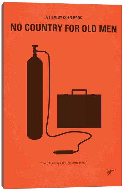 No Country For Old Men Minimal Movie Poster Canvas Art Print