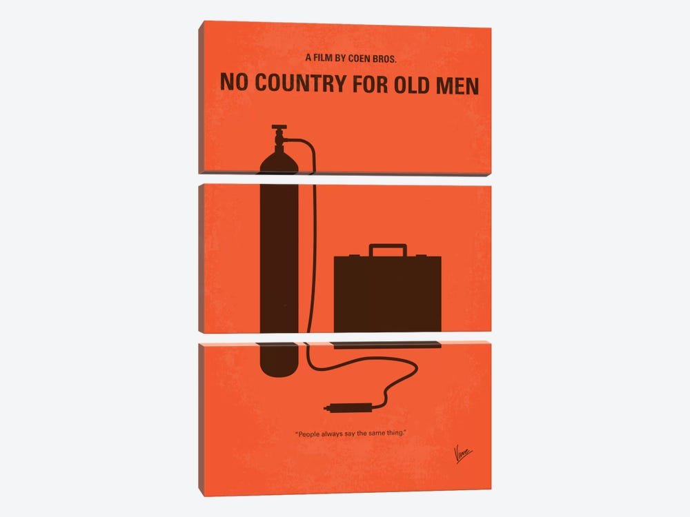 No Country For Old Men Minimal Movie Poster by Chungkong 3-piece Canvas Artwork