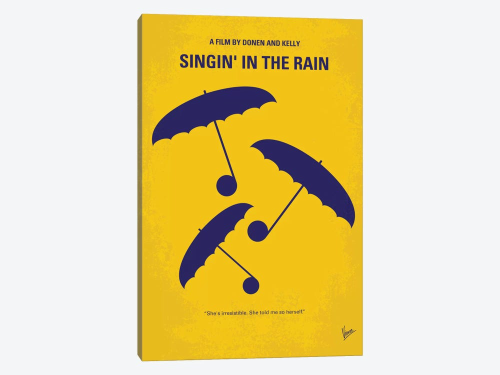 Singin' In The Rain Minimal Movie Poster by Chungkong 1-piece Art Print