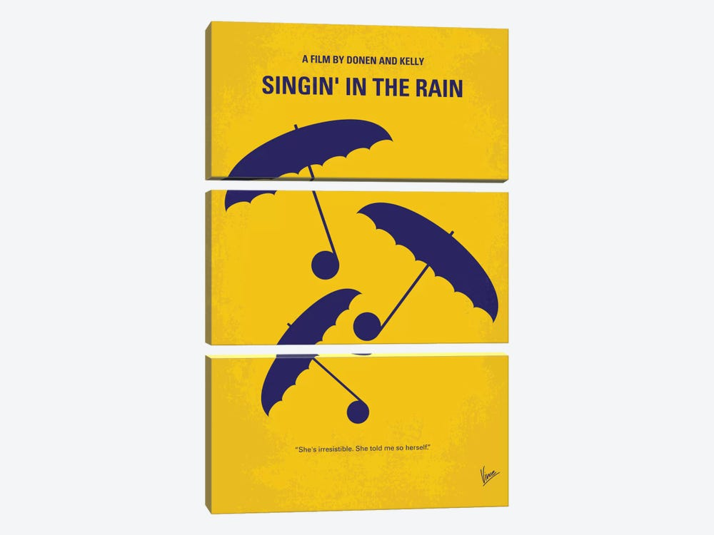 Singin' In The Rain Minimal Movie Poster by Chungkong 3-piece Art Print