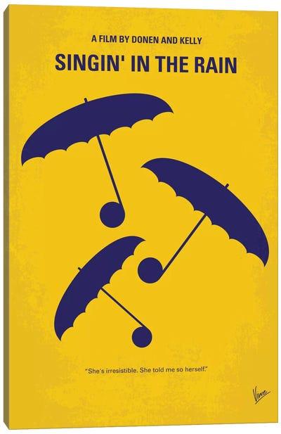 Singin' In The Rain Minimal Movie Poster Canvas Art Print