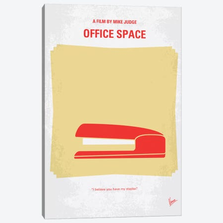 Office Space Minimal Movie Poster Canvas Print #CKG259} by Chungkong Canvas Art