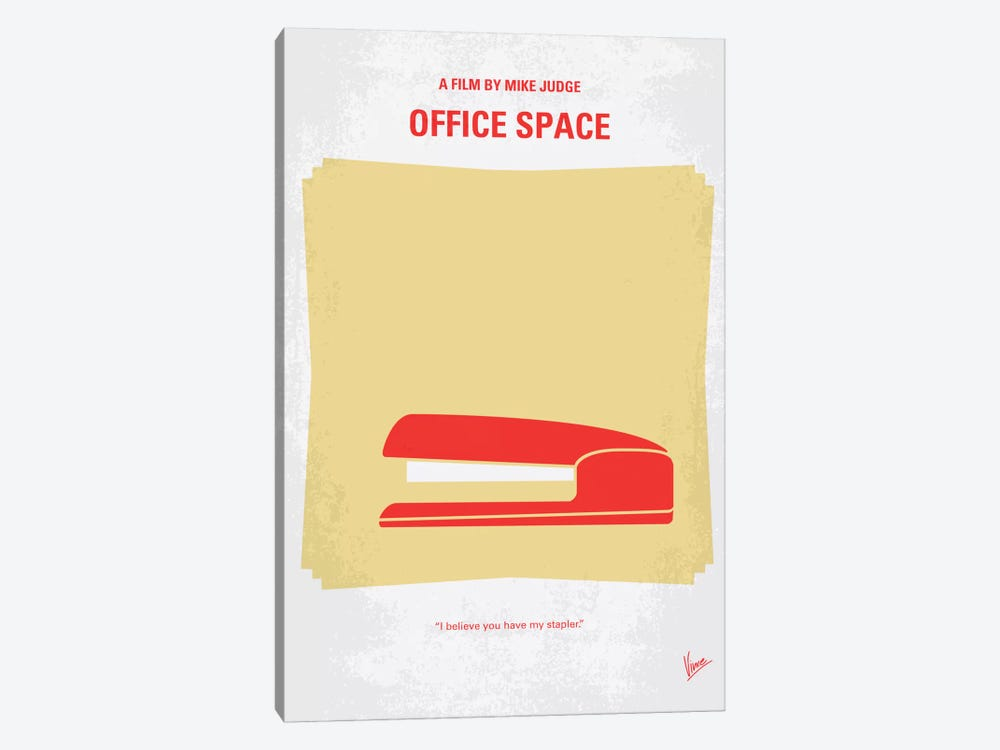 Office Space Minimal Movie Poster by Chungkong 1-piece Canvas Artwork