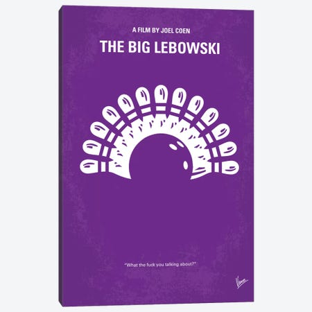 Big Lebowski Minimal Movie Poster Canvas Print #CKG25} by Chungkong Canvas Wall Art