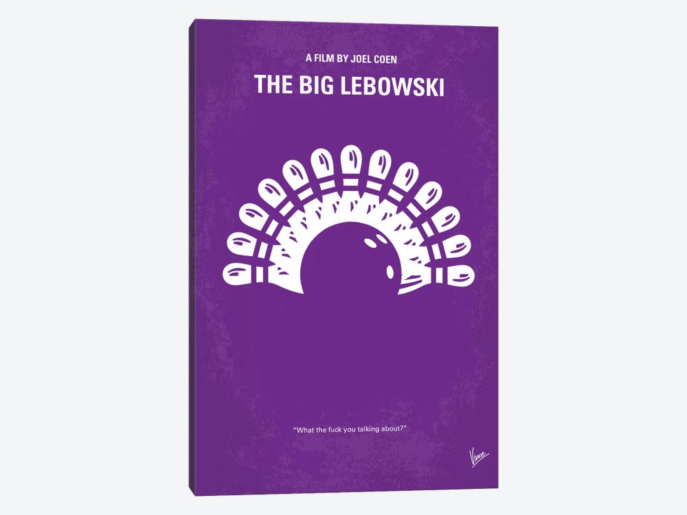 Big Lebowski Minimal Movie Poster by Chungkong 1-piece Canvas Art
