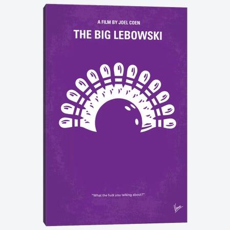 Big Lebowski Minimal Movie Poster Canvas Print #CKG25} by Chungkong Canvas Wall Art