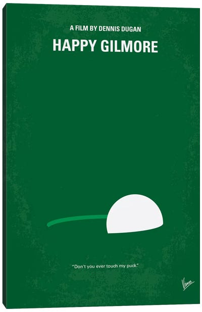 Happy Gilmore Minimal Movie Poster Canvas Art Print