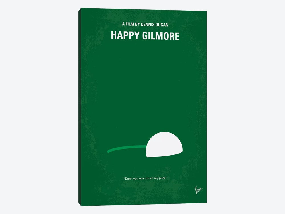 Happy Gilmore Minimal Movie Poster by Chungkong 1-piece Canvas Art