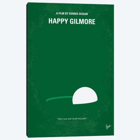 Happy Gilmore Minimal Movie Poster Canvas Print #CKG260} by Chungkong Canvas Print