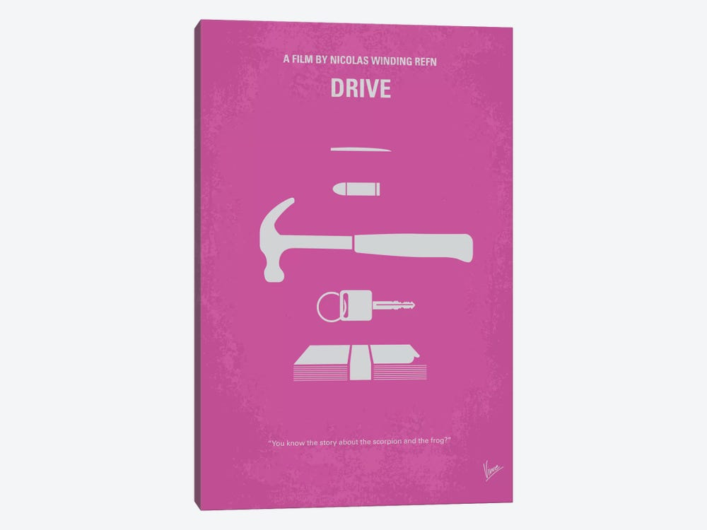 Drive Minimal Movie Poster 1-piece Canvas Art Print