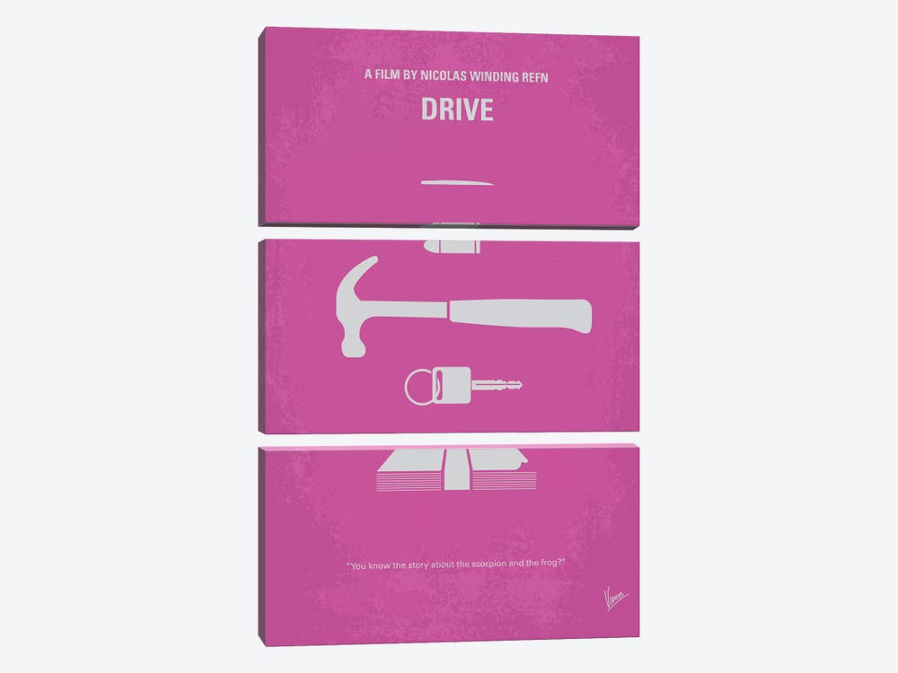 Drive Minimal Movie Poster by Chungkong 3-piece Canvas Art Print