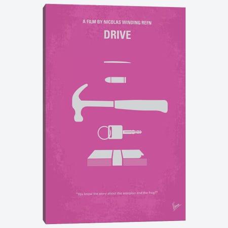 Drive Minimal Movie Poster Canvas Print #CKG261} by Chungkong Canvas Art Print