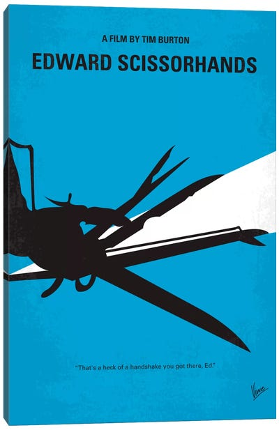 Edward Scissorhands Minimal Movie Poster Canvas Art Print
