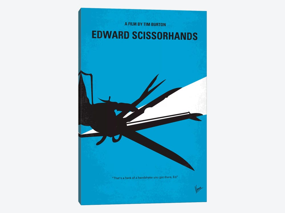 Edward Scissorhands Minimal Movie Poster by Chungkong 1-piece Canvas Print