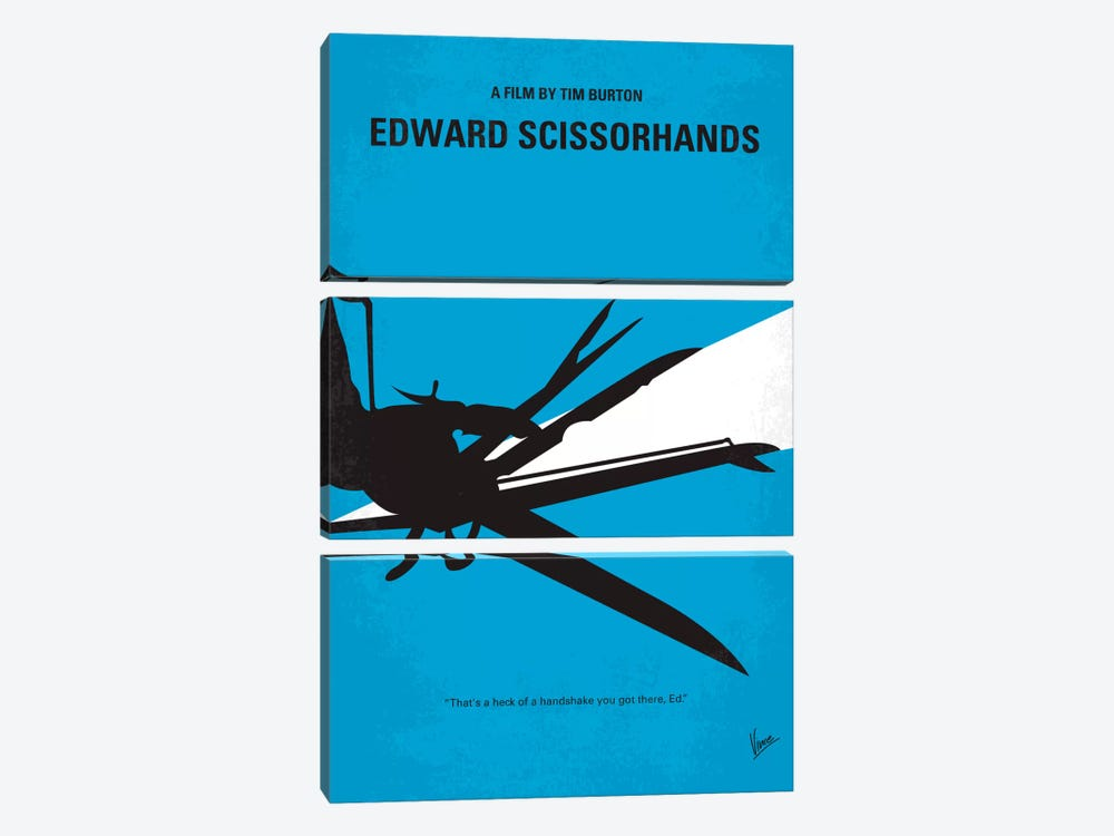 Edward Scissorhands Minimal Movie Poster by Chungkong 3-piece Art Print