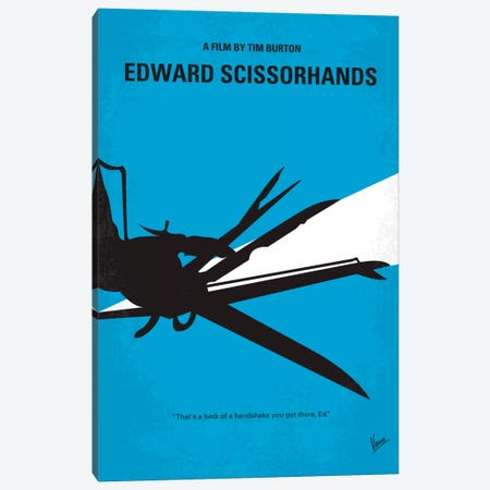 Edward Scissorhands Minimal Movie Poster Canvas Print #CKG263} by Chungkong Canvas Art Print