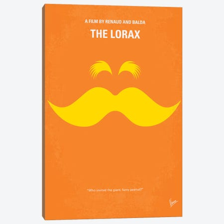 The Lorax Minimal Movie Poster Canvas Print #CKG264} by Chungkong Canvas Art