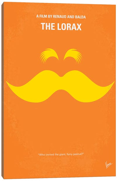 The Lorax Minimal Movie Poster Canvas Art Print