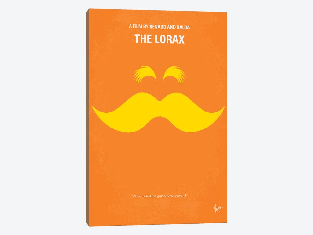 The Lorax Minimal Movie Poster by Chungkong 1-piece Canvas Wall Art