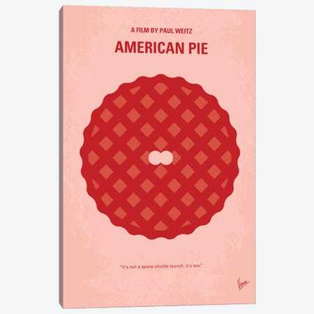 American Pie Minimal Movie Poster Canvas Print #CKG265} by Chungkong Canvas Art