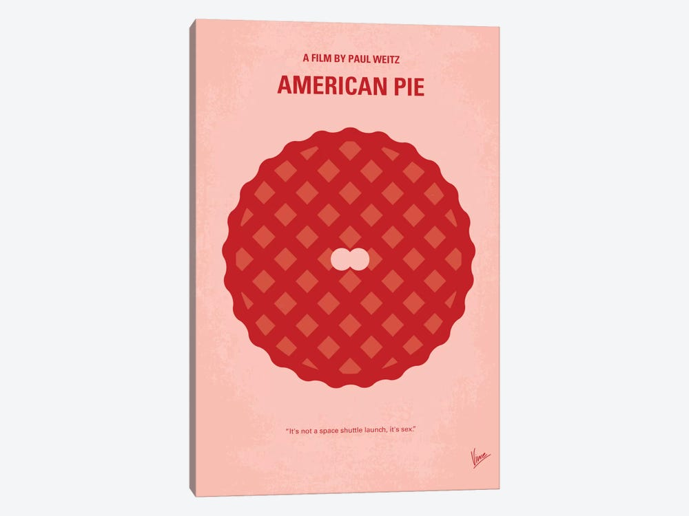 American Pie Minimal Movie Poster by Chungkong 1-piece Canvas Print