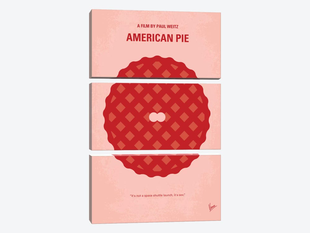 American Pie Minimal Movie Poster by Chungkong 3-piece Art Print