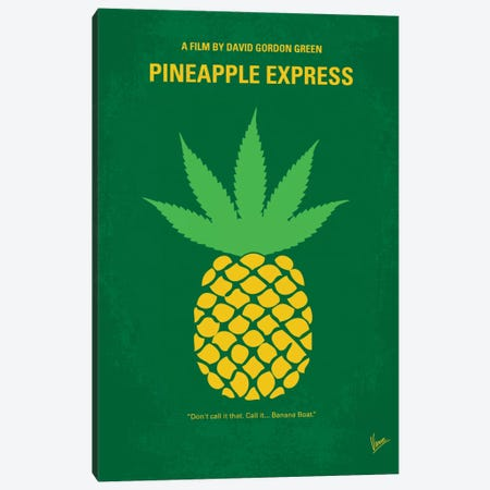 Pineapple Express Minimal Movie Poster Canvas Print #CKG267} by Chungkong Canvas Art