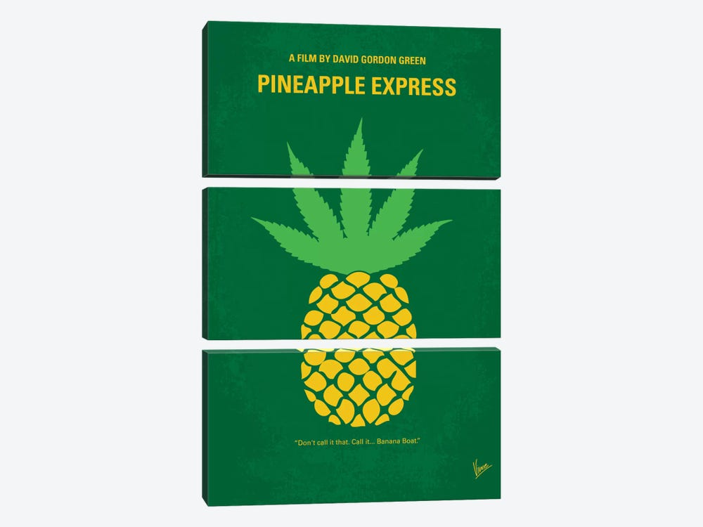 Pineapple Express Minimal Movie Poster by Chungkong 3-piece Canvas Art Print