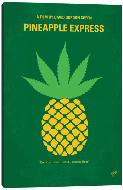 Pineapple Express Minimal Movie Poster Canvas Art Print
