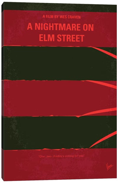 A Nightmare On Elm Street Minimal Movie Poster Canvas Print #CKG268