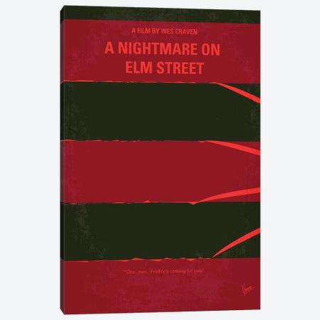 A Nightmare On Elm Street Minimal Movie Poster Canvas Print #CKG268} by Chungkong Art Print