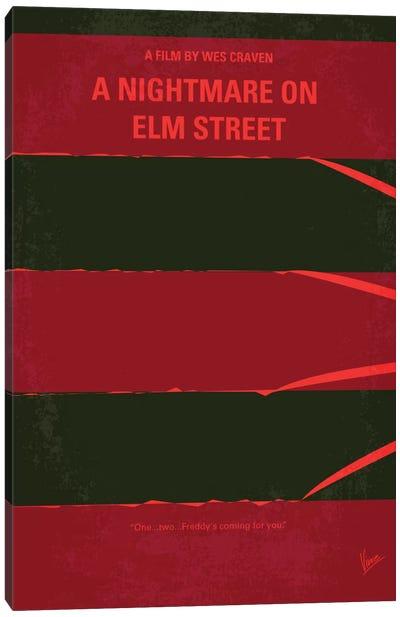 A Nightmare On Elm Street Minimal Movie Poster Canvas Art Print
